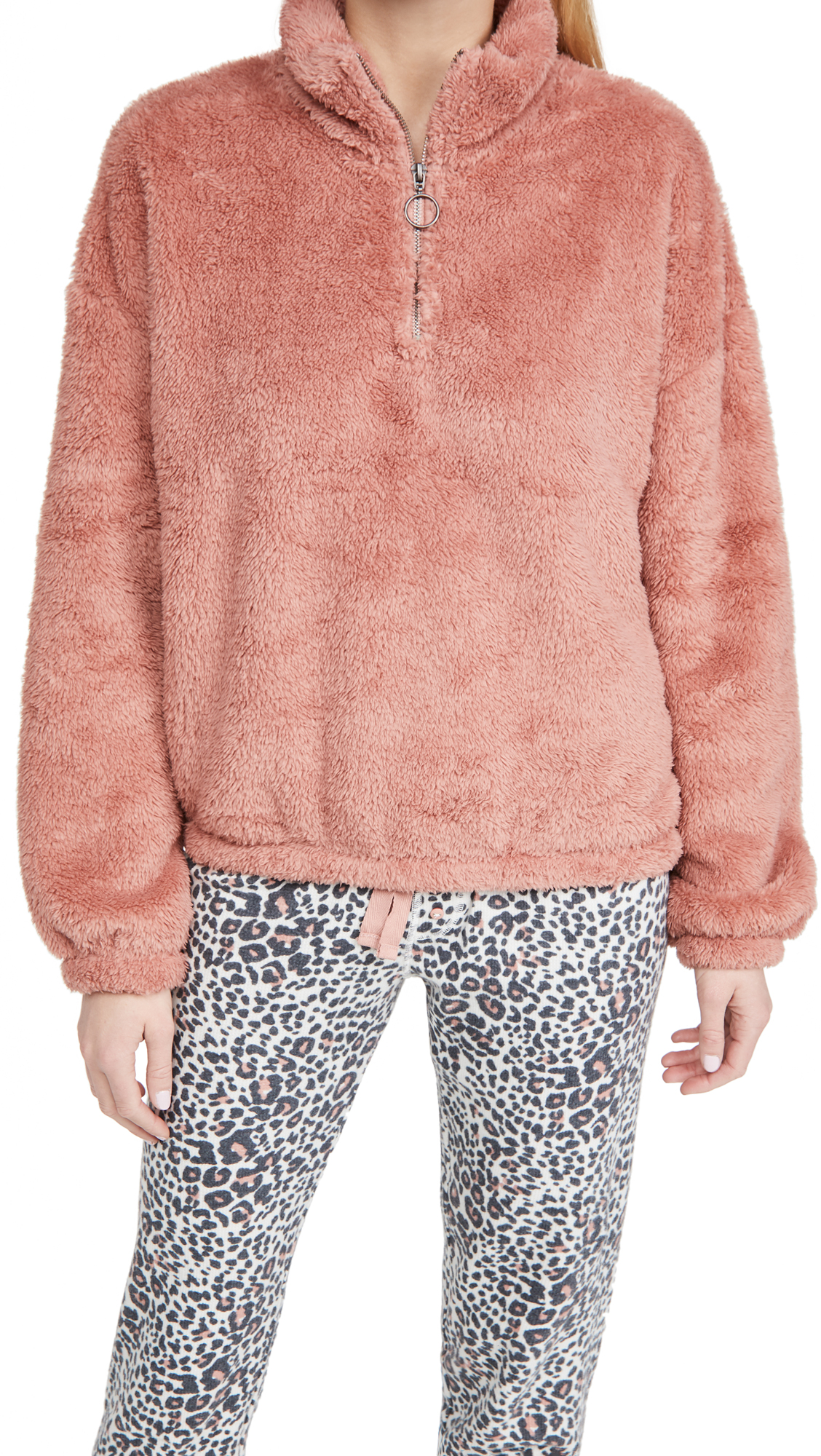 PJ Salvage Cozy Cuddler Half Zip Pullover