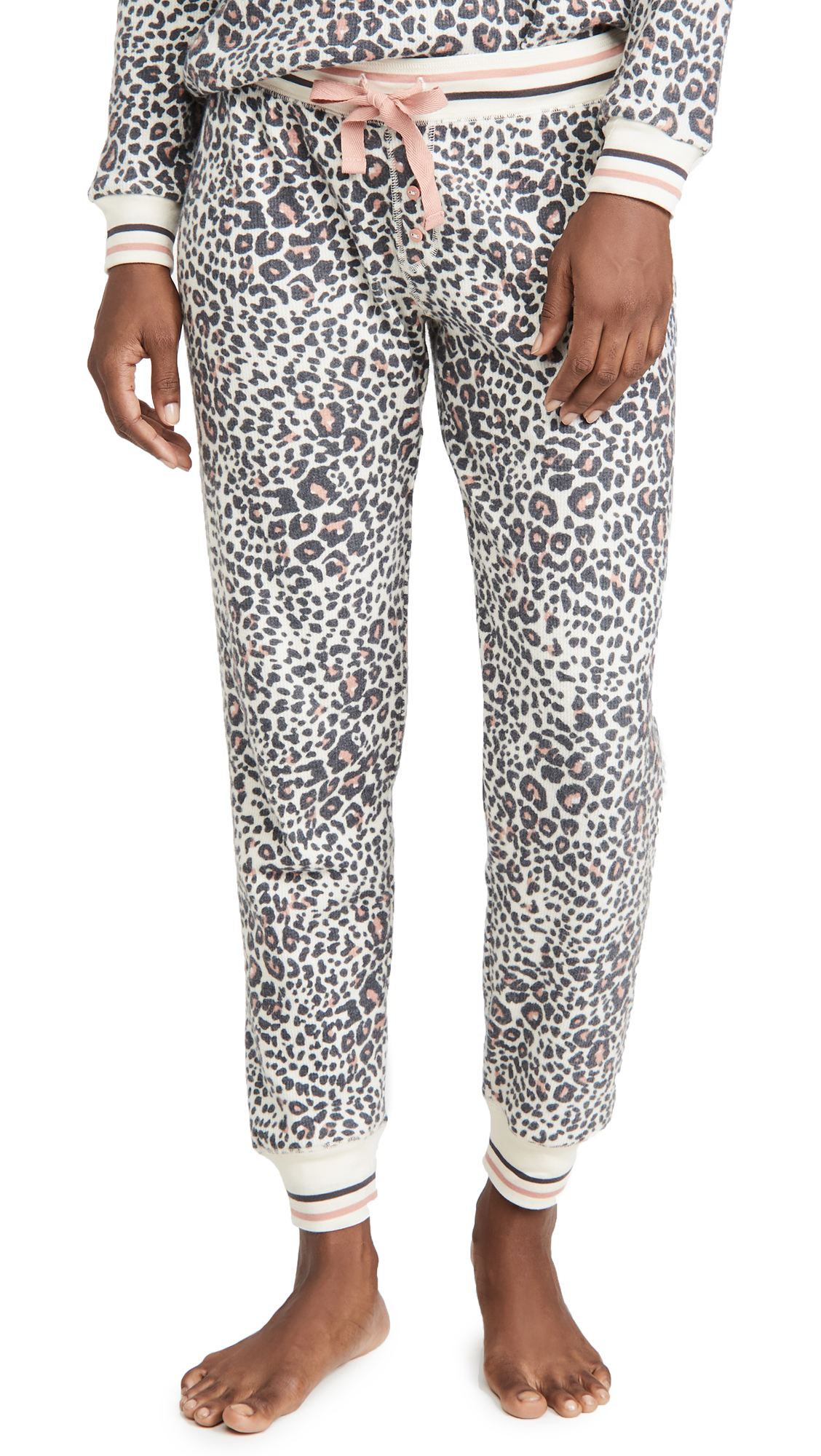 PJ Salvage Thermal Lounge Leopard Pants