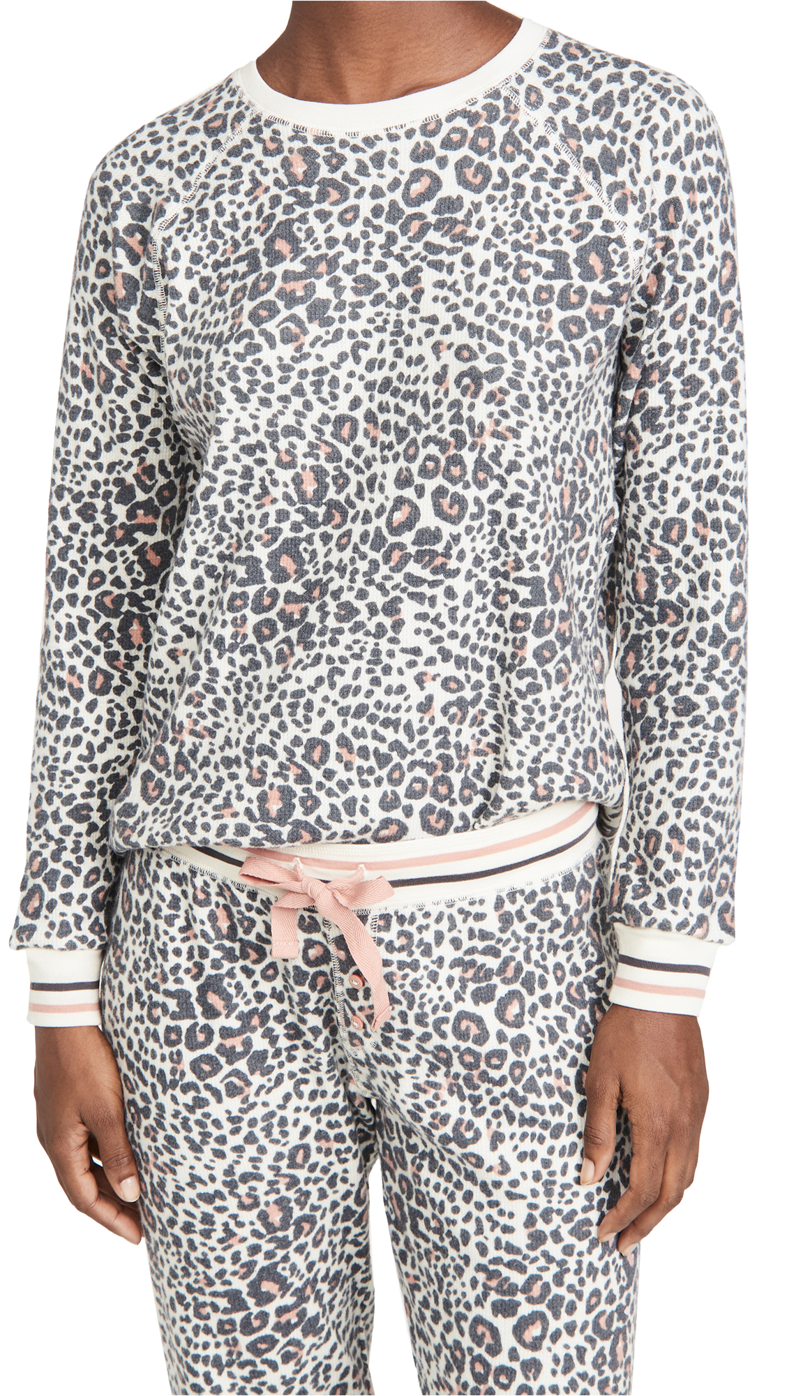 PJ Salvage Thermal Lounge Leopard Top