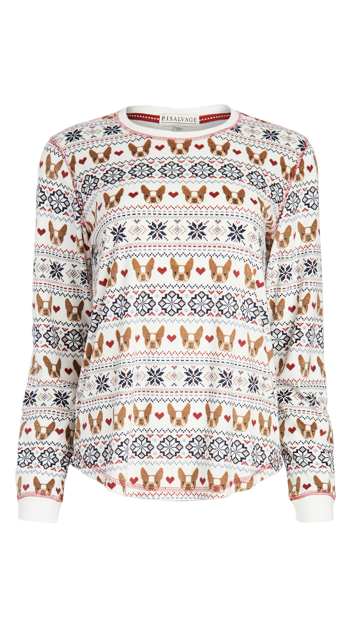 PJ Salvage Dog Mama Fairisle Top
