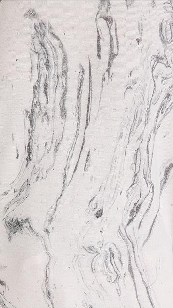 PJ Salvage 大理石纹长袖上衣