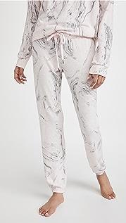 PJ Salvage 大理石纹饰带裤子