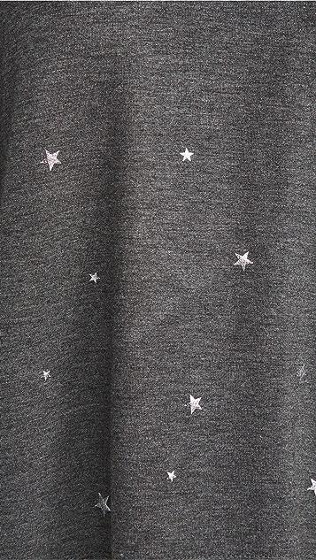 PJ Salvage 光泽星星图案连帽上衣
