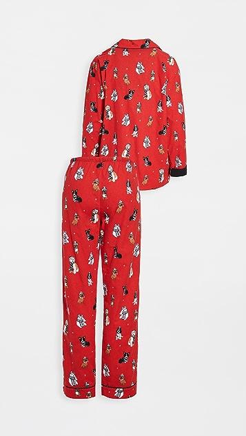 PJ Salvage 法兰绒睡衣套装