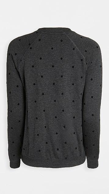 PJ Salvage Snow Dot Long Sleeve Top