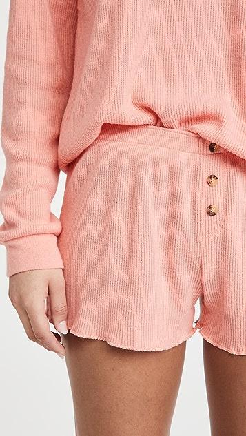 PJ Salvage Textured Lounge Pajama Shorts