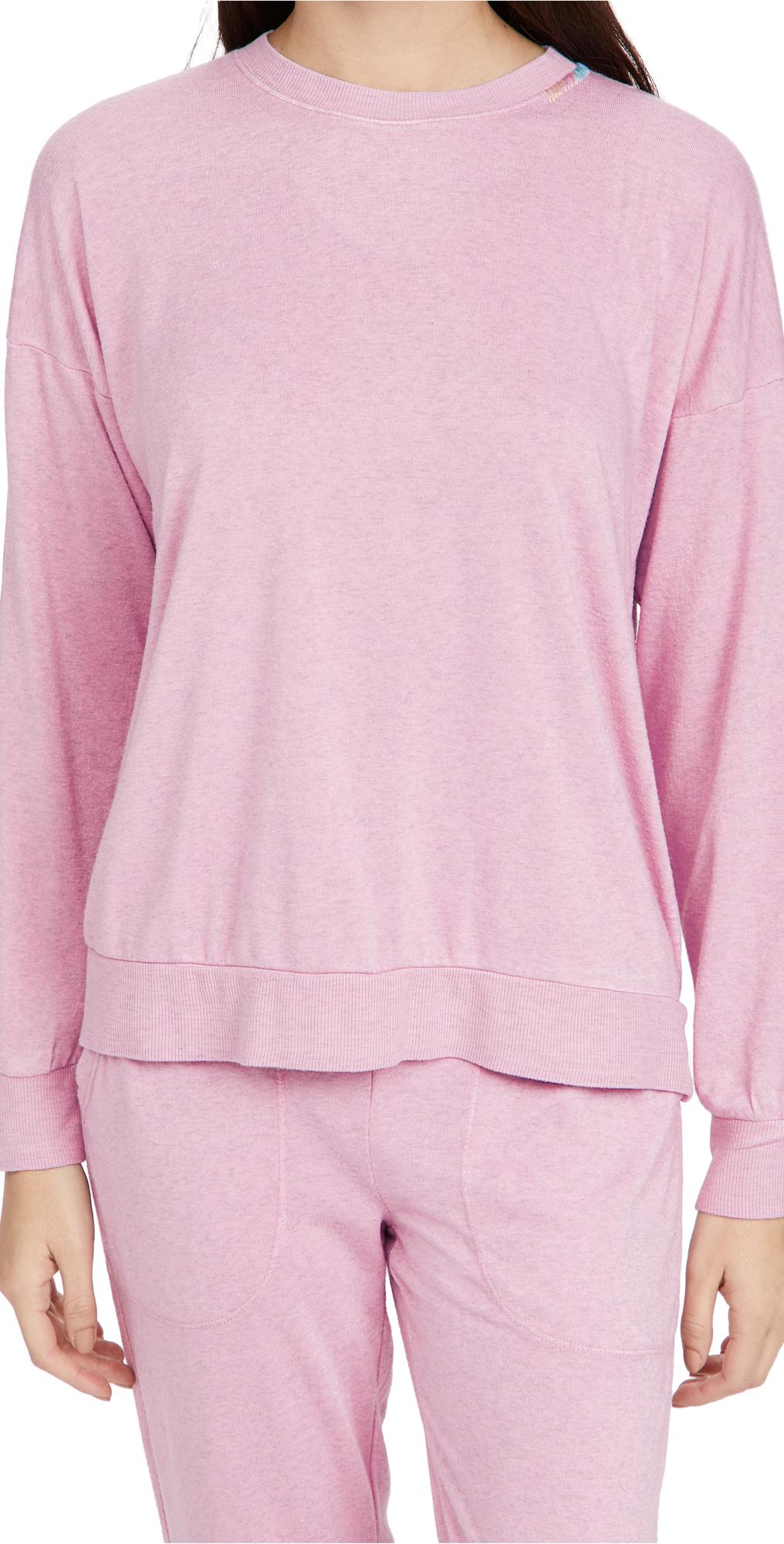 PJ Salvage Colorful Classic Pullover Sweatshirt