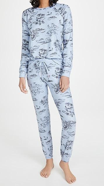 PJ Salvage Peachy Party Pullover Sweatshirt