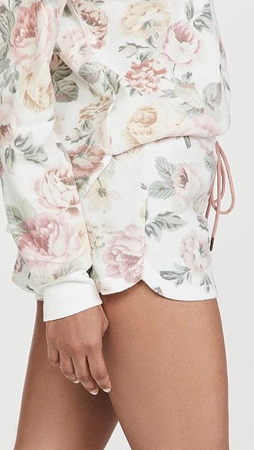 PJ Salvage 复古玫瑰短裤