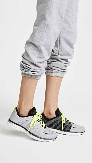 APL: Athletic Propulsion Labs TechLoom Pro Sneakers - Metallic Silver/Black/Energy