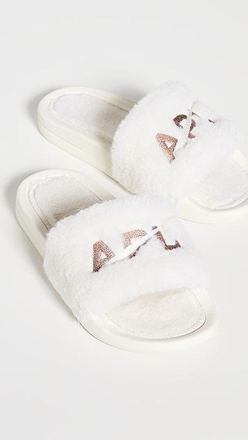 APL: Athletic Propulsion Labs Shearling Slides