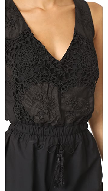 Place Nationale Santa Giulia Lace Playsuit
