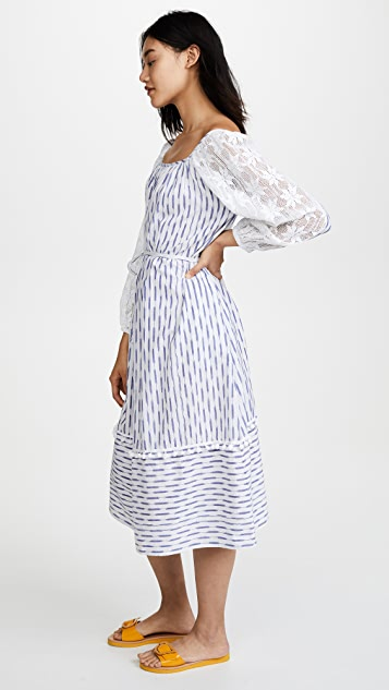 Place Nationale Ikat Smock Dress