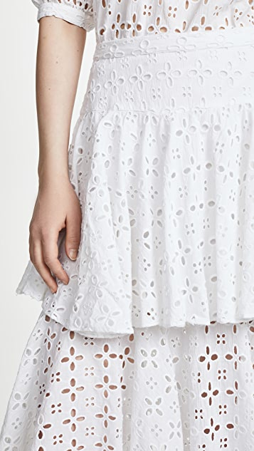Place Nationale Cabris Tiered Ruffle Skirt