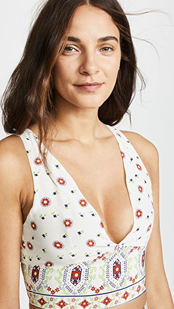Place Nationale Pegomas Silk Bustier Top