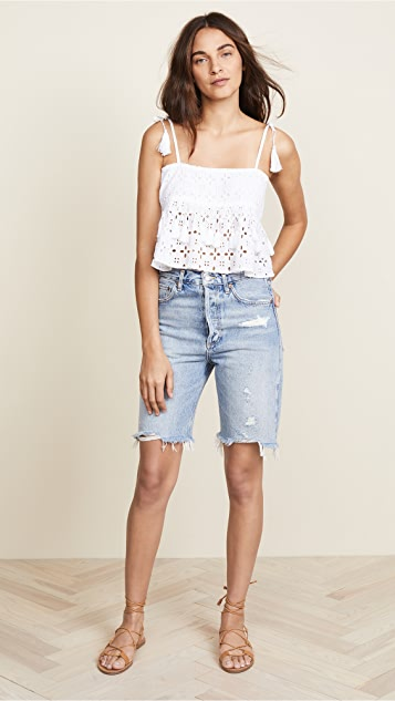 Place Nationale Saint Jeannet Smocked Crop Top