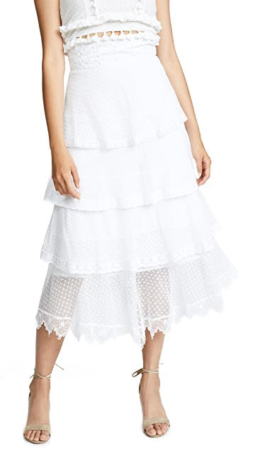 Place Nationale La Baronne High Waist Midi Skirt