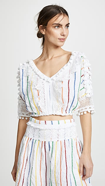Place Nationale Soleil Sleeved Crop Top