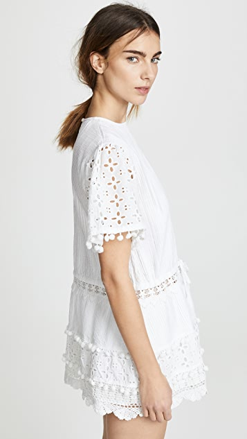 Place Nationale Albi Eyelet Mini Dress