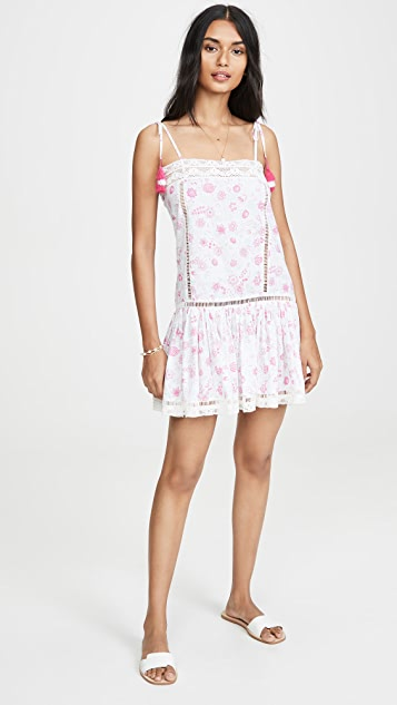 Place Nationale L'Eden Floral Print Tie Strap Mini Dress