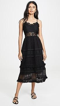 La Marne Grid Lace Maxi Sun Dress
