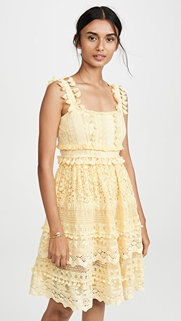 Place Nationale Le Cros Lace Tiered Mini Sun Dress