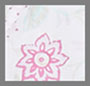 хлопковая вуаль с цветочным принтом