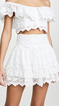 La Scene Lace Wrap Miniskirt