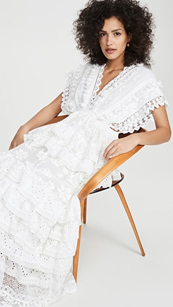 Place Nationale Le Savel Backless Maxi Caftan Dress