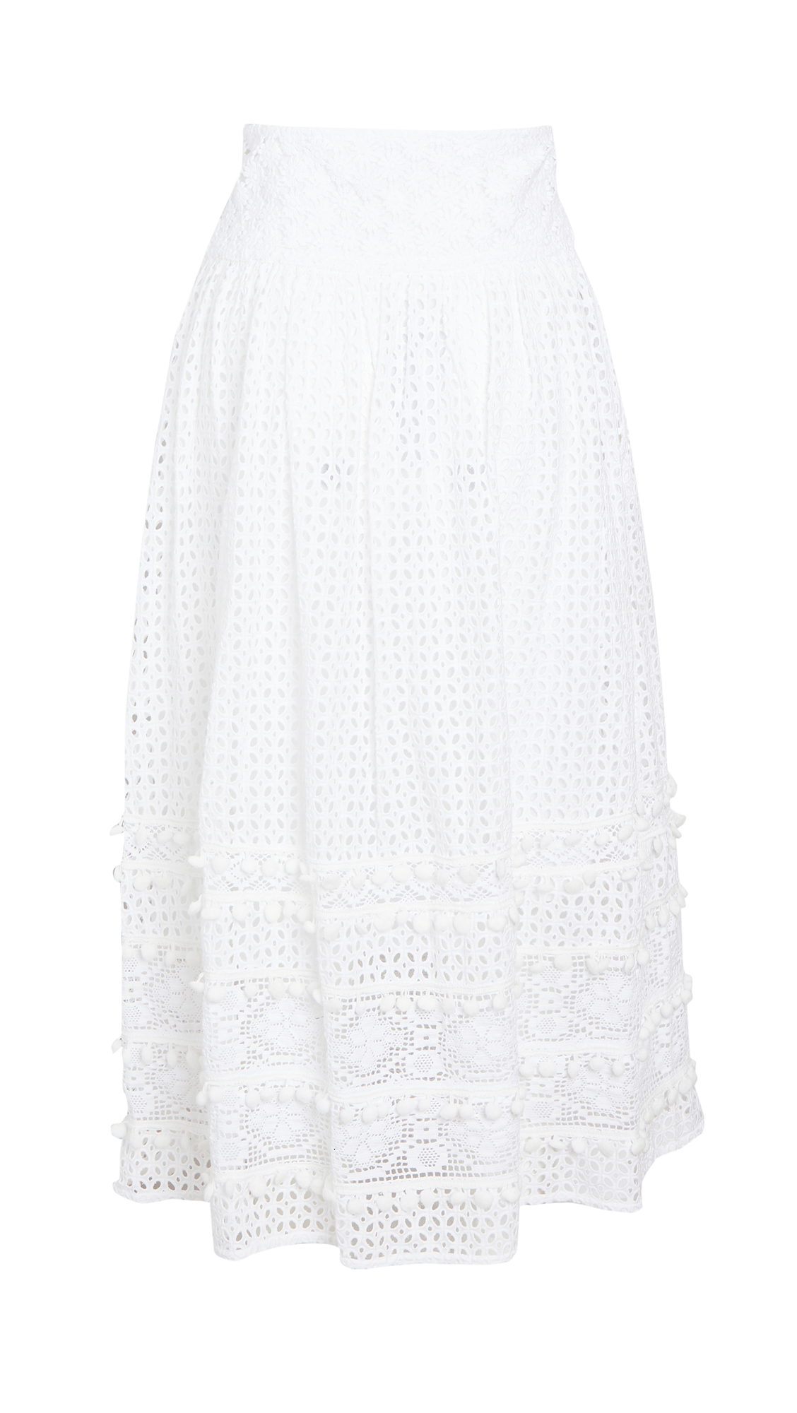 Place Nationale L'Ermitage Eyelet Maxi Skirt