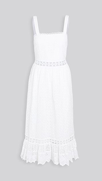 Place Nationale Le Gayan Eyelet Maxi Dress