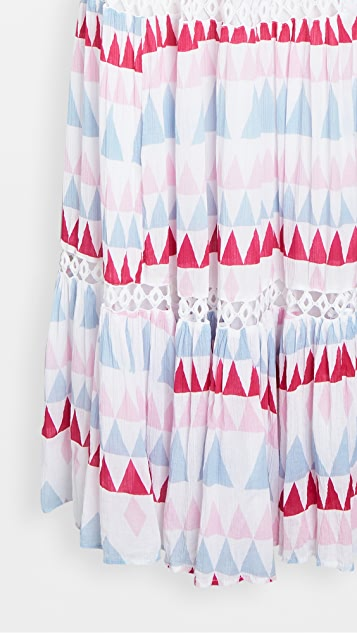 Place Nationale Le Ghessa Mosaic Print Maxi Sun Dress
