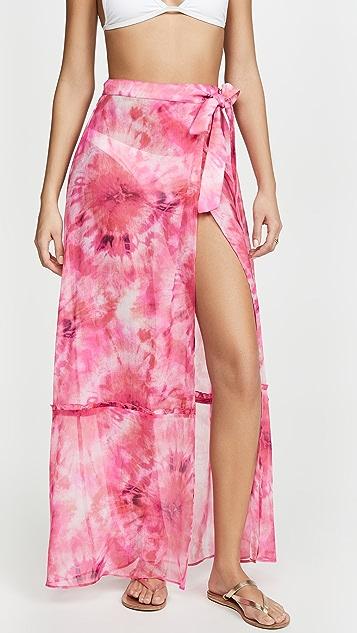 Playa Lucila Tie Dye Wrap Skirt
