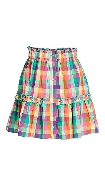 Playa Lucila Plaid Skirt