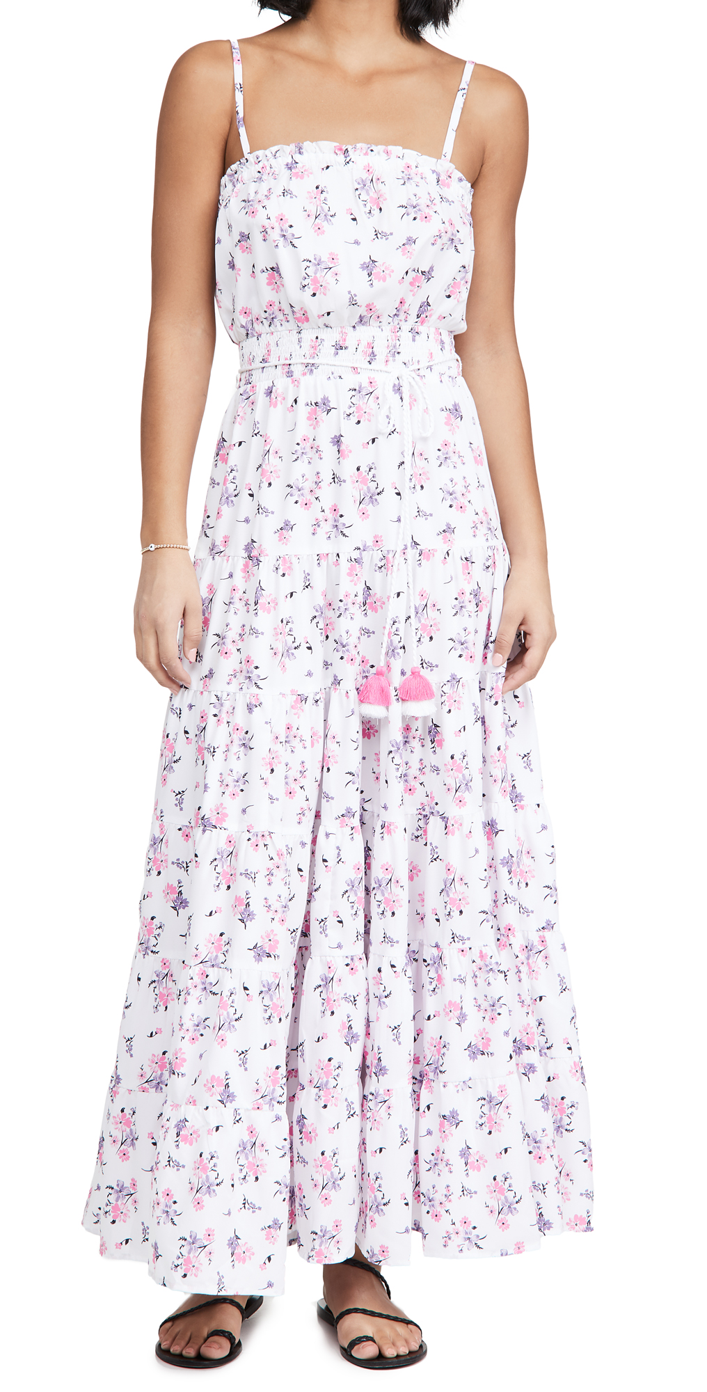 Playa Lucila Tiered Floral Maxi Dress