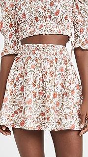 Playa Lucila 荷叶边半身裙