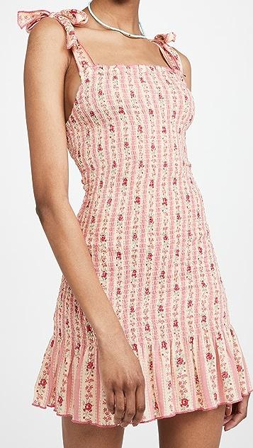 Playa Lucila Tie Shoulder Smock Dress