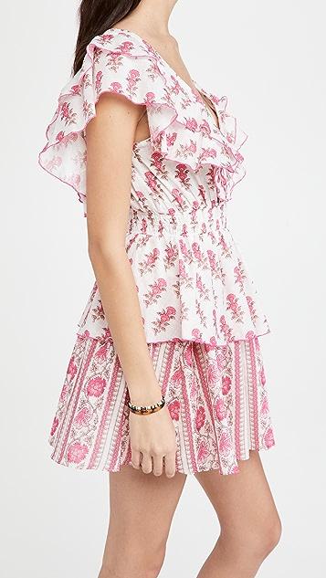 Playa Lucila Ruffle Border Print Dress