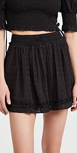 Playa Lucila - Eyelet Smocked Skirt