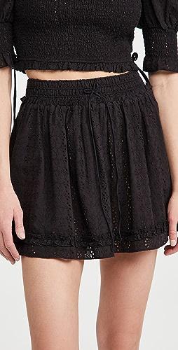 Playa Lucila - Eyelet Smocked Skirt