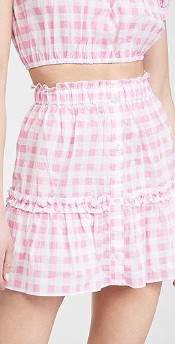 Playa Lucila - Gingham Skirt