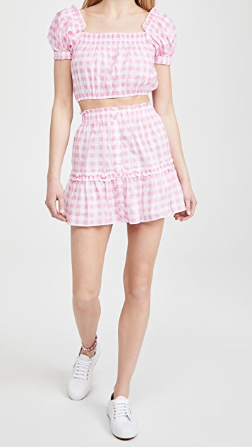 Playa Lucila Gingham Skirt