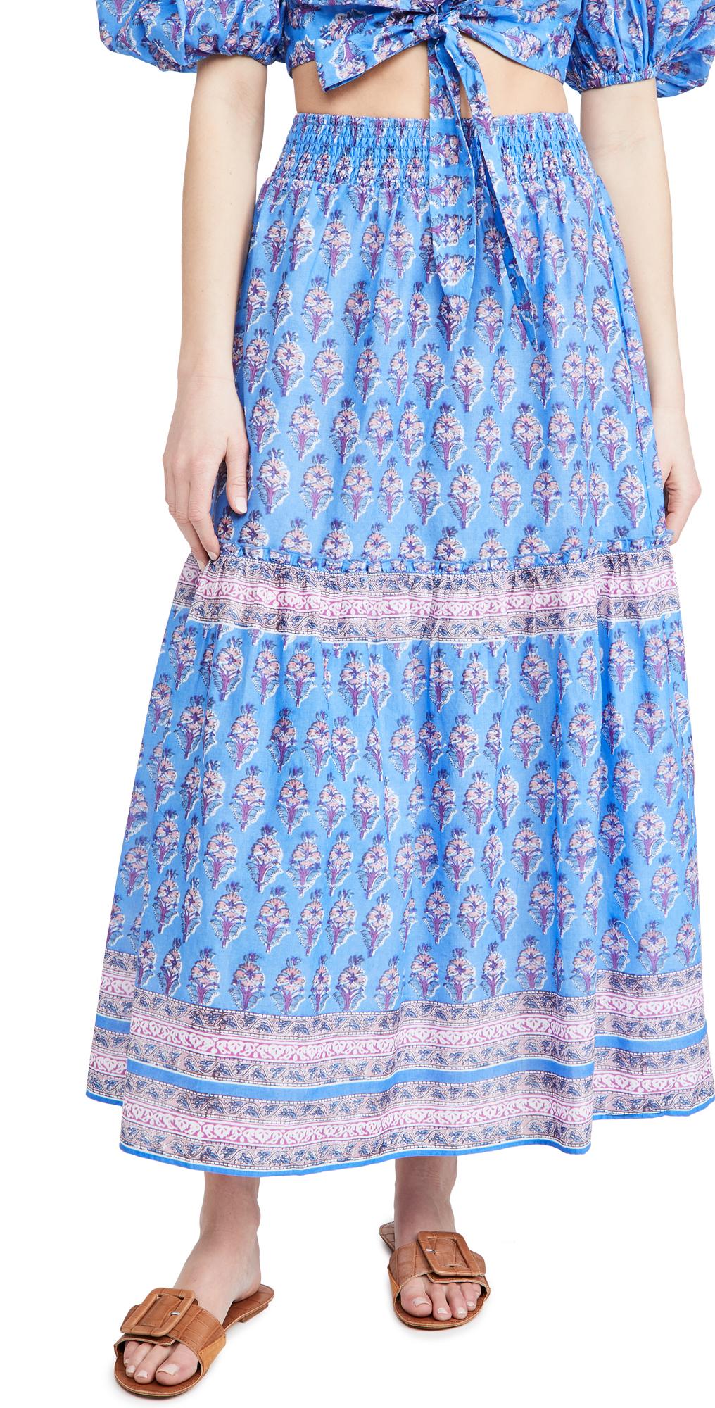 Playa Lucila Border Print Skirt