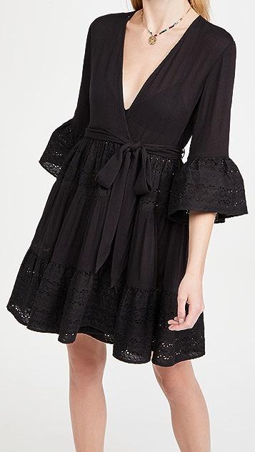 Playa Lucila Eyelet Kimono Dress