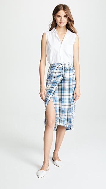 PAPER London Siven Silk Wrap Skirt