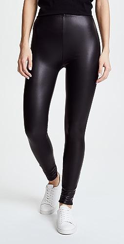 Plush - 绒布衬里光滑贴腿裤