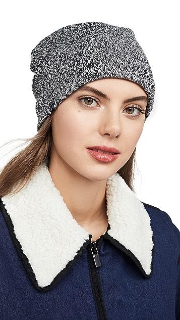毛绒 双色纱线休闲绒布衬里针织帽