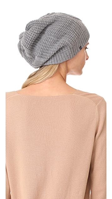 Plush Cable Knit Fleece Lined Beanie