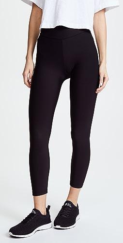Plush - 运动风格绒布衬里中长贴腿裤