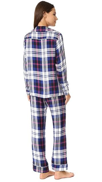 Plush Ultra Soft Long Sleeve Plaid PJ Set